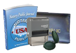 notary stamp, xstamper, notary public journal, zipper case, renew notary commission