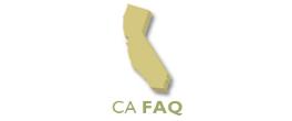 California FAQ's