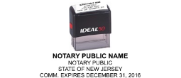 BNJ - <center> New Jersey Notary Commission Self-inking Stamp </center>