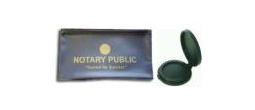 Inkless Thumb printer Pad and Small Blue Notary Zipper Case, Notary Bag