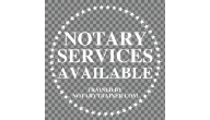 NOTARY PUBLIC WINDOW DECAL, CLEAR WINDOW DECAL PUBLIC NOTARY, NOTARIO PUBLICO, WINDOW DECAL, STATIC CLING SIGN, CLEAR WINDOW SIGN